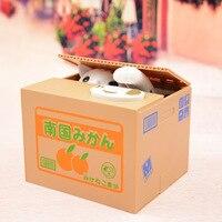 Szczęście Kot Panda Złodziej skarbonki Pieniądze pudełka zabawka prezent dla dzieci pola pieniędzy Automatyczne Stole Monety Skarbonka Money Saving Box Moneyb