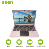 14.1inch windows10 laptop computer Intel celeron N3450 Apollo Lake 4GB/64GB EMMC +SSD M.2 128GB/256GB optional quad cores FHD