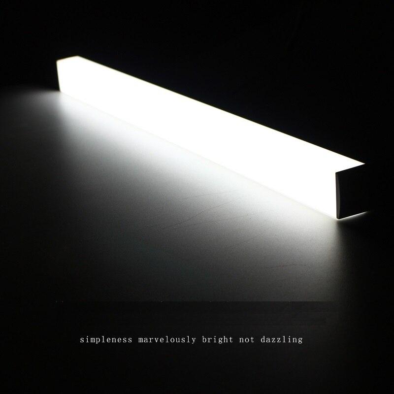 LED bar lumière 40 cm 50 CM 220 V 3 côté éclairage pour salle de lavage, cabinet, mur monté table de toilette 8 W-22 W cuisine placard led tube