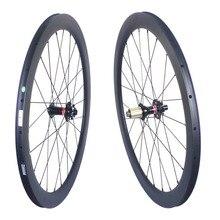 Pneus de freio a disco de carbono, conjunto de rodas de bicicleta de carbono com 35mm 38mm 50mm 60mm clincher, pneus tubular sem câmara