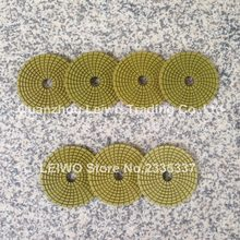 Diamond Flexible Wet Polishing Pad 4 inch (100 mm) Spiral Teeth Circle Polishing Wheel for Granite Marble Man-made Stone(China)