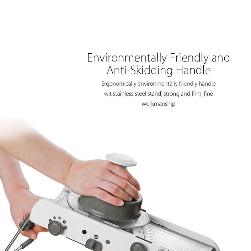Adjustable Multifunctional Vegetable Slicer Professional Grater Stainless Steel Blade Tools Kitchen Mandoline Food Potato Slicer