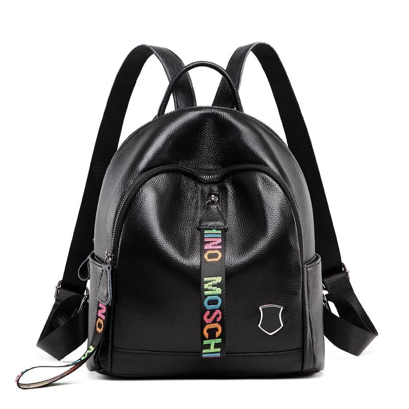 2019 femmes 100% en cuir véritable sac à dos de haute qualité jeunes sacs à dos pour adolescentes femme école sac à bandoulière