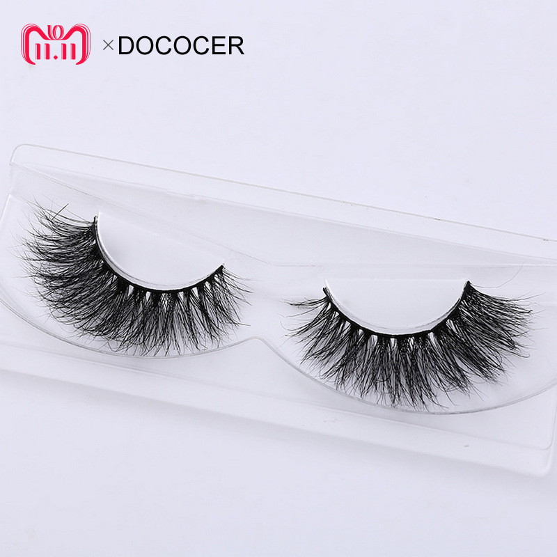 DOCOCER Eyelashes 3D Mink Eyelashes Long Lasting Mink Lashes Natural Dramatic Volume Eyelashes Extension False Eyelashes A21