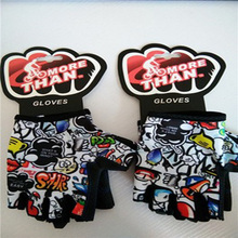 Factory wholesales finger-less Breathable bicycle gloves for kid