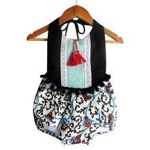 Summer Infant Kids Baby Backless Floral Jumpsuit Sunsuit Clothes