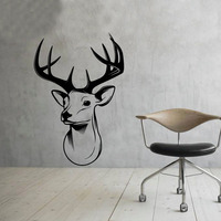 Deer Head Home Decorative Wall Stickers Removable Vinyl Wall Decal Sticker For Bedroom Art Design New Arrival