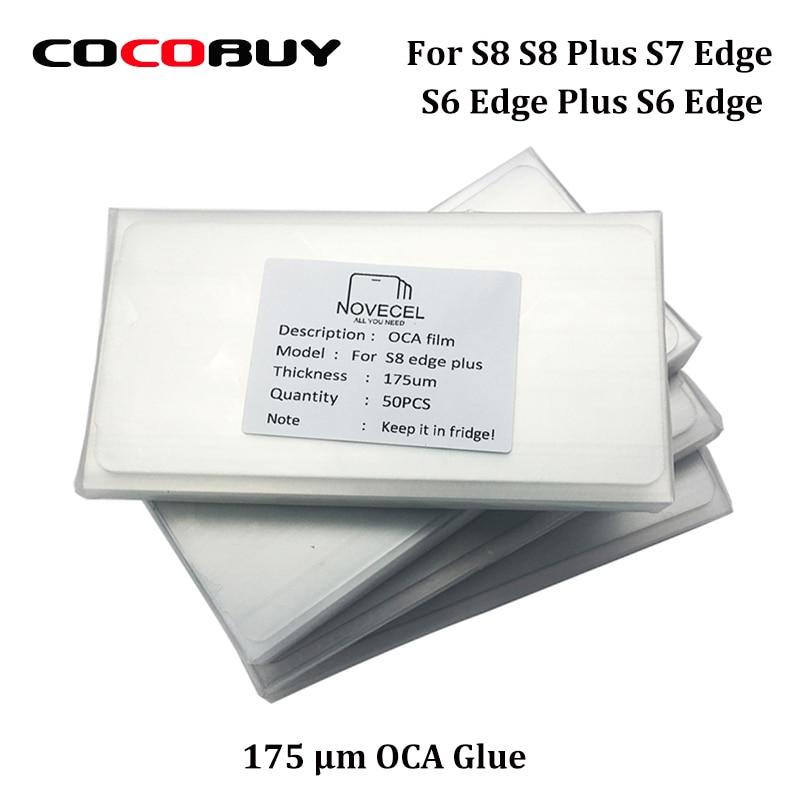 Novecel 50pcs/lot OCA Adhesive glue For s8 s8 puls s7 edge s6 edge s6 edge plus for OCA vacuum laminator,175um free shipping 50 pcs lot oca optically clear adhesive tape for iphone 5 5c 5s 6 7 8 8p x 4 4 7 5 5 inches thickness 250 um