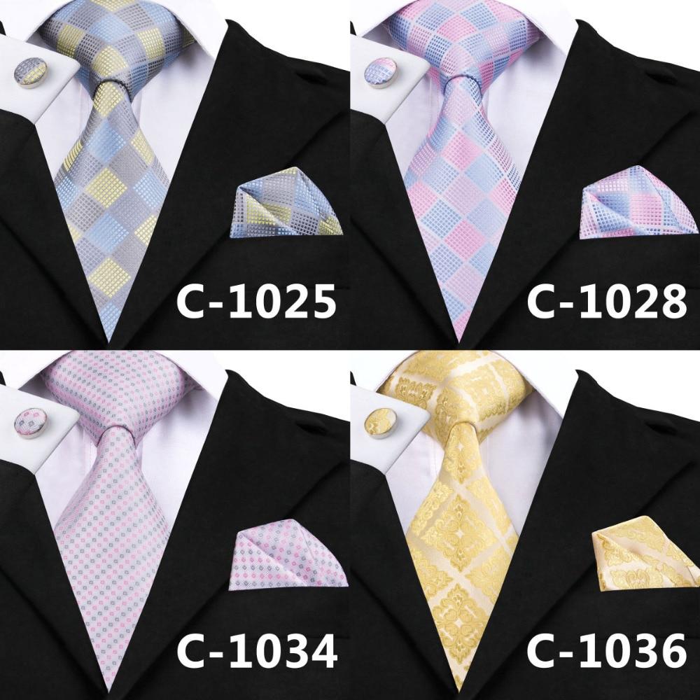 SN-688 men/'s 100/% Jacquard Woven Silk Neckties Tie+Hanky+Cufflinks Sets Free S/&H
