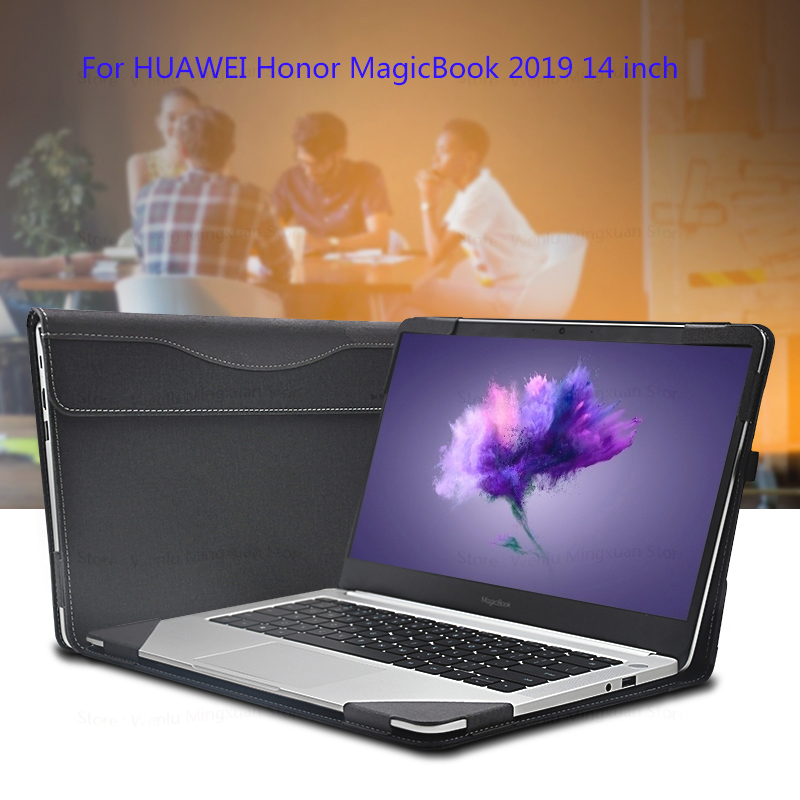 """Laptop Sleeve For HuaWei Honor MagicBook 2019 14"""" Split Design PU Protective Cover Skin For Honor MagicBook 14 Laptop Case Gifts-in Laptop Bags & Cases from Computer & Office    1"""