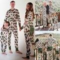 Árboles de navidad de La Familia Pijama A Juego Conjunto de Mujer de Los Hombres de Manga larga ropa de Dormir Ropa de Dormir