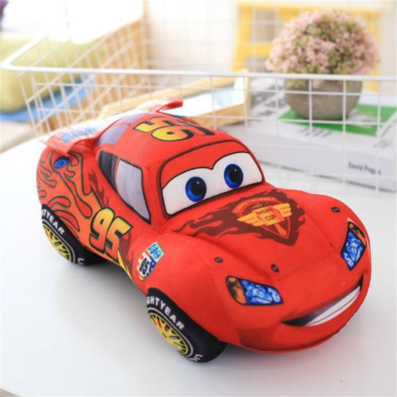 Disney Pixar Cars 2 3 Kids Toys 18cm Lightning McQueen  Plush Toys Cute Cartoon Cars Plush Toys Birthday Gifts For Children Boys