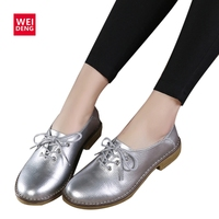 2017 New Fashion Genuine Leather Women Flats Casual Shoes Lace Up Moccasins Sapatos Femininos Sapatilhas Femininos