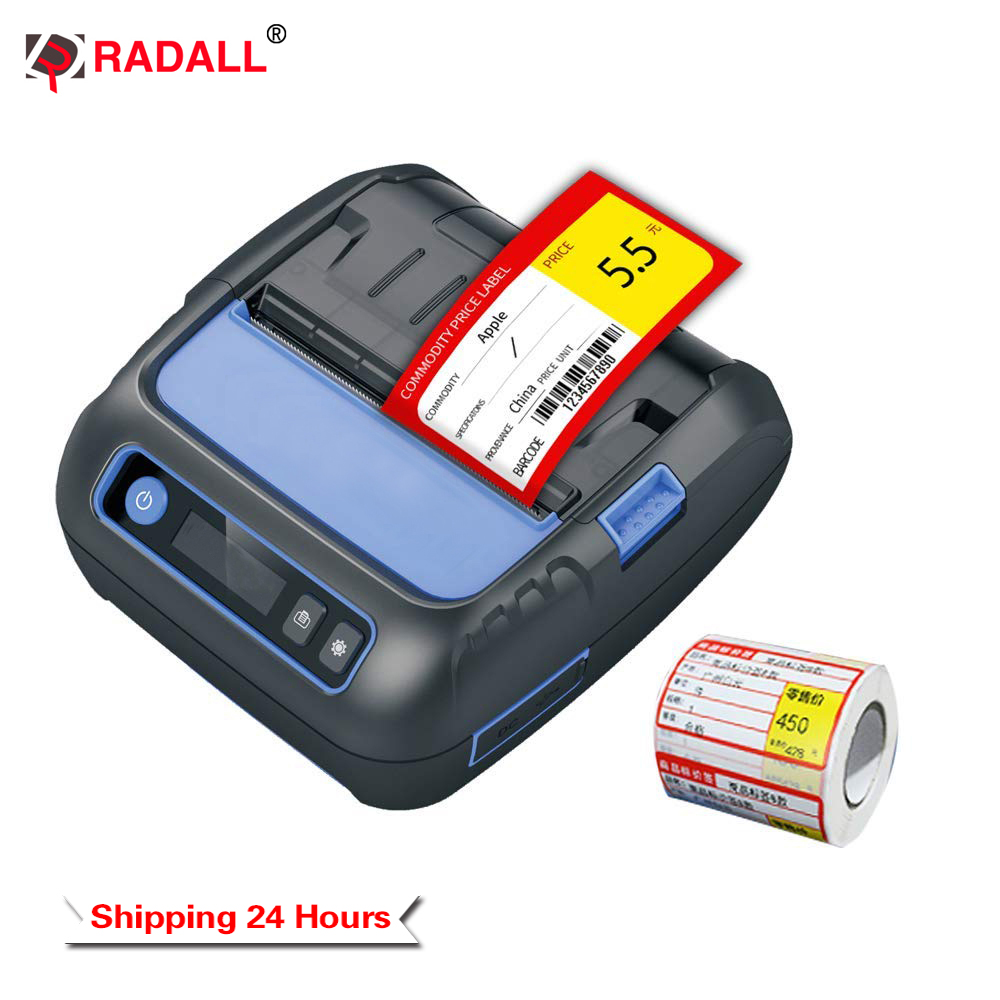 80mm 58mm Mini Pocket Thermal Label Printer and Portable thermal Printer Bluetooth Label Maker for POS System Supermarket image