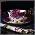 1 Набор послеобеденных чашек черного чая и блюдца стиль Костяной фарфор чайные чашки и чашки кофе подарочные кружки для чая 5ZDZ455