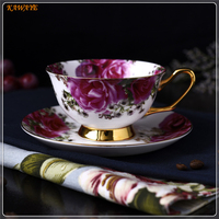 1 set Afternoon Black Tea Cups And Saucers Style Bone China tea Cups & Cup of coffee Gifts cups for tea 5ZDZ455