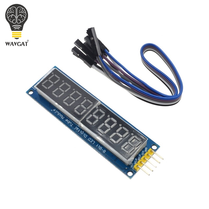CAIZHIXING 74HC595 CWG 8-Digit 8 Bits 8bit Digital Tube Display Control Module Red Three IO for Arduino 595 Driver