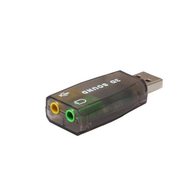 Аудио-адаптер 3D звуковая карта 5,1 USB до 3,5 мм разъем Jack для микрофона и наушников стерео гарнитура 18jan31