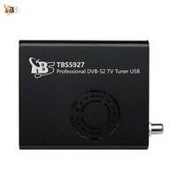 Лучший цифровое спутниковое телевидение приемник TBS5927 Профессиональный DVB S2 ТВ тюнер USB коробка поддерживает VCM CCM ACM 32apsk blindscan