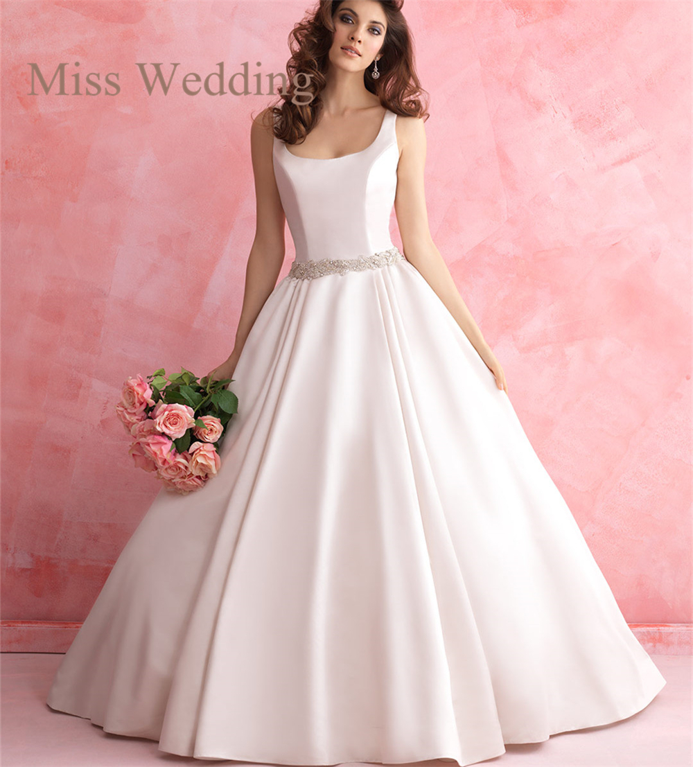Timeless Mikado Princess Wedding Dress R2817 Sleeveless Tank Bodice ...