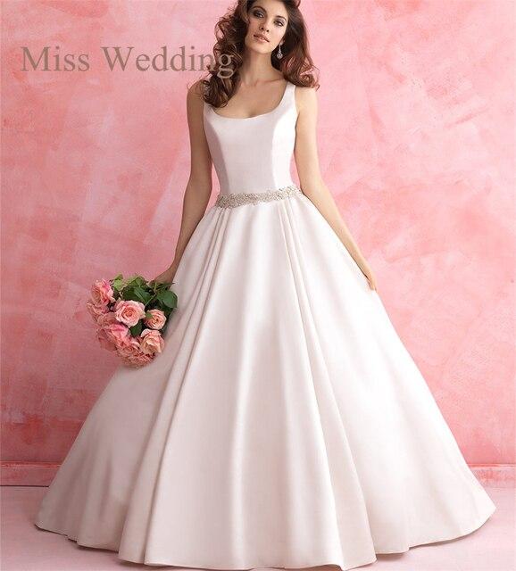 75b5385cc Timeless Mikado princesa del vestido de boda R2817 tanque sin mangas blusa  de nuevo diseño del