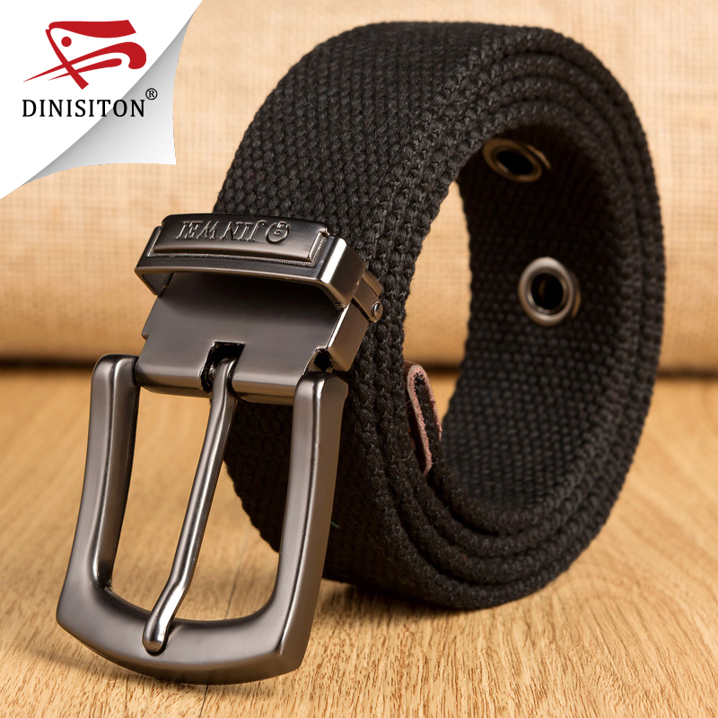 DINISITON New Adult military Tactical men&women   Belt   Alloy Buckle Tactical Canvas   Belts   For Man Cowboy Strap pin buckle YZ04