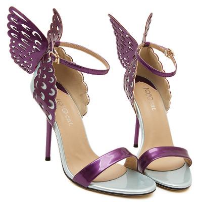 Sophia Webster Borboleta Asas Mulheres Sapatos de Verão Sandálias de Salto Alto Bowtie Mulher Apontou Toe com Tira No Tornozelo Bombas de Sapatos