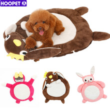 HOOPET All Seasons Lovely Cartoon Pet Dog Cat Pad Bolster Bed Mat Warm Soft Cushion with Water-Resistant Base