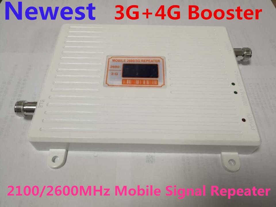 Le plus nouveau répéteur chaud de double bande GSM 3g wcdma 2100 4g LTE 2600 mhz répéteur de signal mobile amplificateur de signal de booster de signal cellulaire