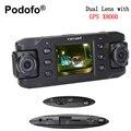 Dual Lens Traço Cam Câmera Do Carro Auto DVR DVRs Carro com GPS X8000 Gravador de Câmara De Vídeo Full HD 1080 P Registrator