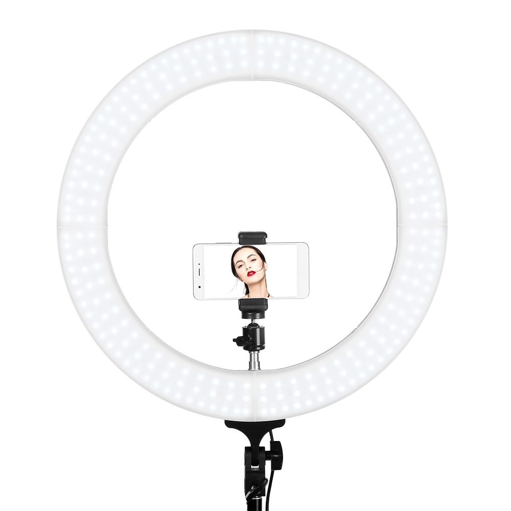 100 240V Portable FX 60 18 Inch Outer Dimmable Stable LED Ring Light For Camera Smartphone Professional Lighting Z35