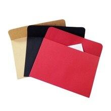 5pcs/Lot Black Red Kraft Paper Envelopes DIY Multifunction For Card Scrapbooking Gift все цены