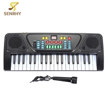 37 Keys Music Electronic Keyboard Kid Electric Piano Organ with Microphone Educational Electone Musical Toy Gift For Children(China)