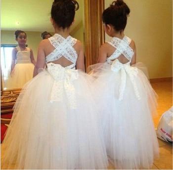 цена на New Flower Girl Dresses Ball Gown Princess Dress for Wedding Little Girls Kids/Children Ball Party Pageant Communion Dress