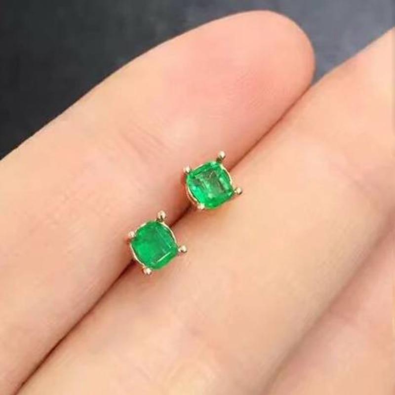 2017 oorbellen QI xuan_fashion jewelry_colombia зеленый Камни элегантный earrings_plated розовое золото earrings_factory непосредственно продаж