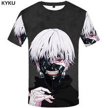 KYKU marca Tokyo Ghoul T camisa 3d camiseta Anime camisetas divertido T camisas Sexy hombre demonio ropa 2017 japoneses. ropa de hombre