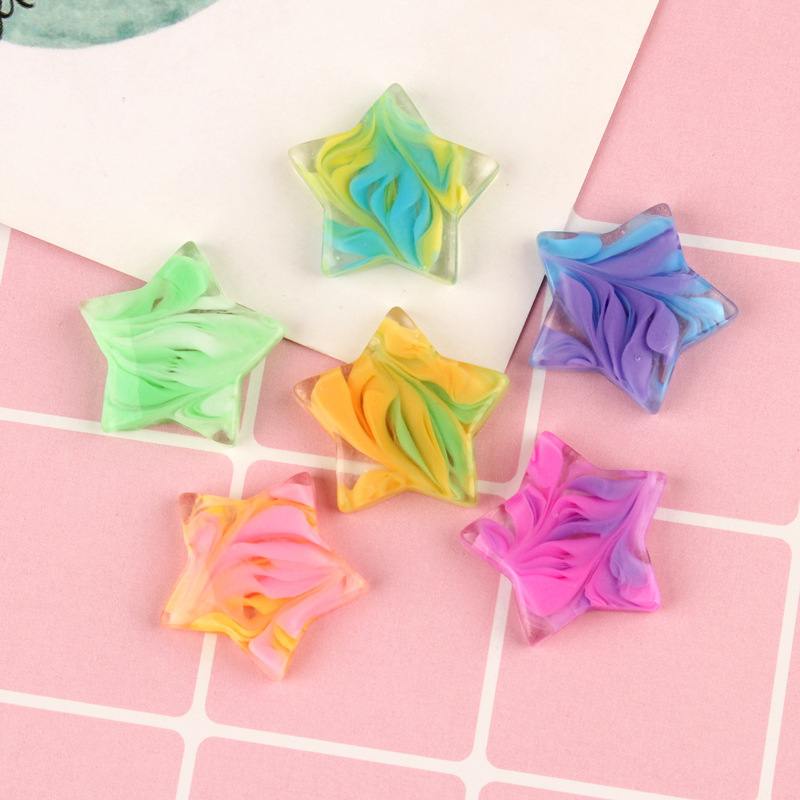 10pcs Resin Heart Star Flower Decoration Crafts Kawaii Flatback Cabochon Embellishments For Scrapbooking DIY Accessories Butto in Modeling Clay from Toys Hobbies