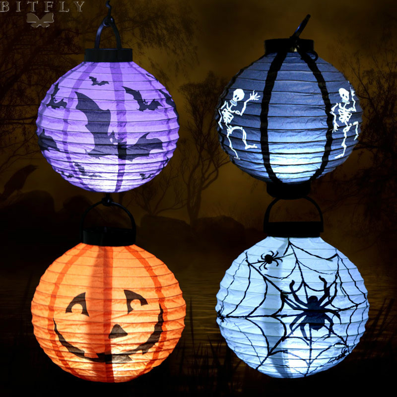 Aliexpress.com : Buy Halloween Led paper lantern spider ...