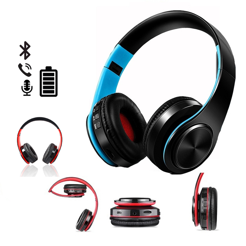 все цены на HATOSTEPED Wireless Headphones Bluetooth Headset Earphone Headphone Earbuds Earphones With Microphone For PC mobile phone music онлайн