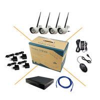 4CH Wireless WIFI HD 1080P 2MP IP Camera Network IR Night Vision Metal Security 8CH NVR