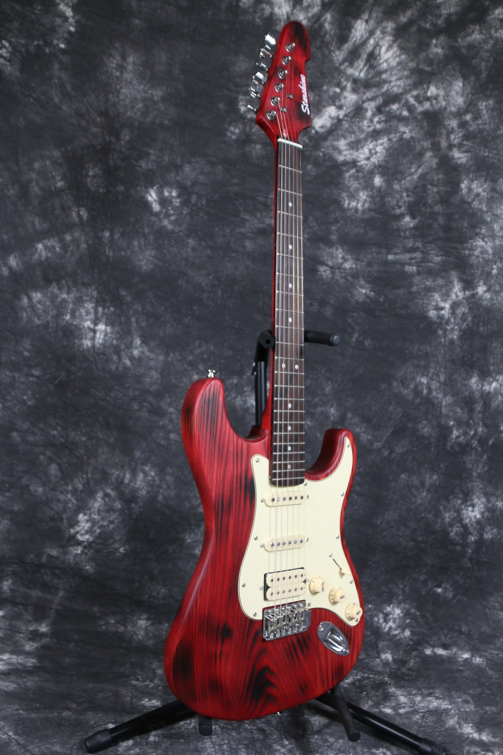 special burning spot ash body maple neck alnico pickups quality korea switch red strat electric. Black Bedroom Furniture Sets. Home Design Ideas