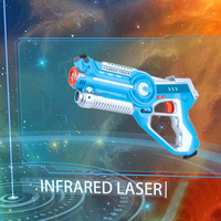 Infrared Laser Tag Set Laser Battle Pack with Mechanical Worms USB Charger Indoor Outdoor Family Activity for Kids and Adults