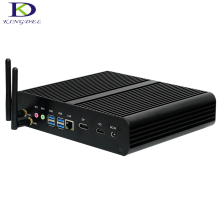 Fanless Mini Desktop 4K HD PC i7 6500U 6600U With SD Card Reader mSATA3 0 Graphics