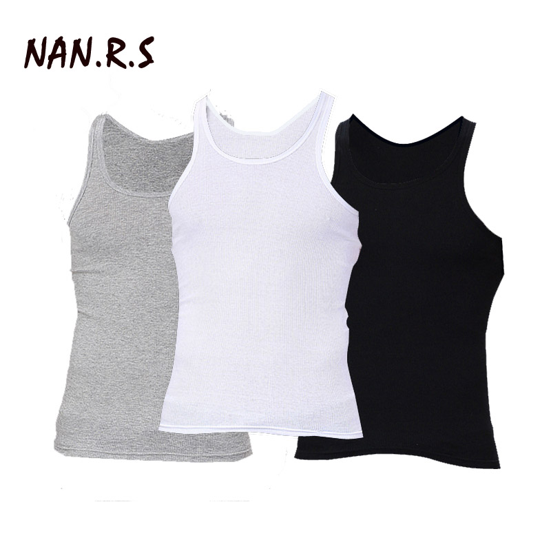 3Pcs lot Man 39 s Cotton Solid Seamless Underwear Brand Clothing Mens Sleeveless Tank Vest Comfortable Undershirt Mens Undershirts in Tank Tops from Men 39 s Clothing