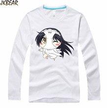 Hot-sale Japanese Anime Shimoneta Kajou Ayame Long Sleeve T Shirt for Men and Women Funny Cartoon Cotton T-shirt Plus Size S-3XL