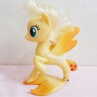 1 Pcs 14cm 88g Cute Lovely Tomy Horse Unicorn Princess Celestia Luna Apple Jack Toy Dolls