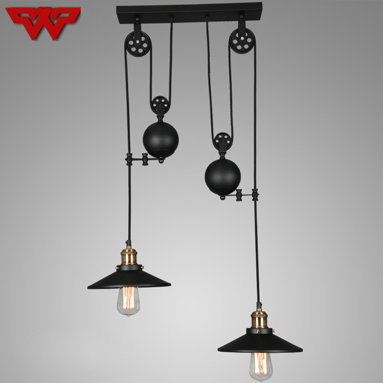Personality creativity retro industrial wind Loft chandelier restaurant bar shop clothing store chandelier free shipping modern and simple aluminum chandelier creative personality restaurant bar clothing store chandelier free shipping
