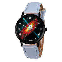 Space Planet Watch Casual Quartz Leather Strap Astronomy Planets Unisex Classy Creative Analog Watches Relogio Feminino
