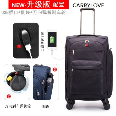 CARRYLOVE Multifunction luggage 20/24/28 size High quality,waterproof Wild travel Luggage Spinner brand Travel SuitcaseCARRYLOVE Multifunction luggage 20/24/28 size High quality,waterproof Wild travel Luggage Spinner brand Travel Suitcase
