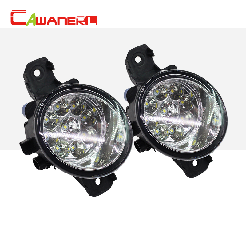 Cawanerl Car Styling LED Light Lamp Fog Light DRL Daytime Running Light DC 12V White Blue Orange For Renault Thalia 1998-2003